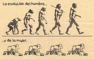 Evolución contada por una mente misógina...